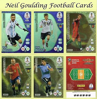 Panini WORLD CUP 2018 ☆☆☆☆☆ ICON/TOP MASTER/INVINCIBLE ☆☆☆☆☆ Cards #442 to #468