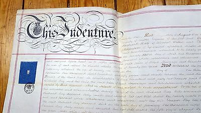 1875 Vellum Deed Indenture Parchment - Trafalgar Road Liscard Chester - Freehold