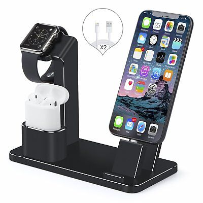 Apple Watch Stand AirPods iPhone X/8/8 Plus 4 in1 Aluminum Dock Charger Station