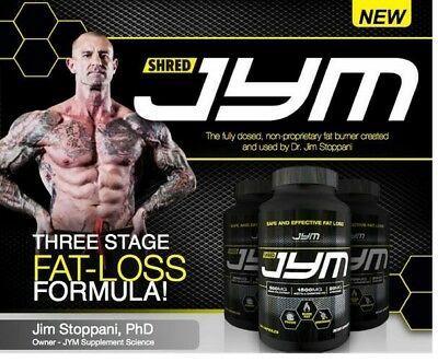 Shred Jym 240 Capsules  - By Jym Supplement Science - Fat Burner