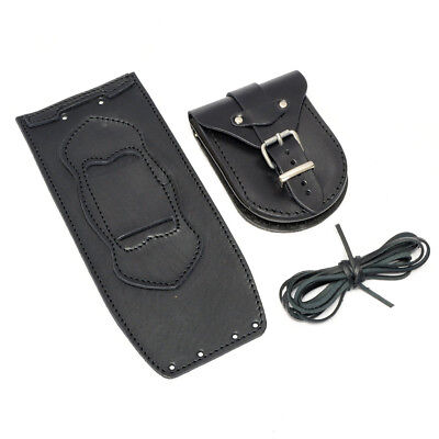 Harley Softail Fatboy Heritage Deluxe Black Leather Tank Panel Cover Chap Bra
