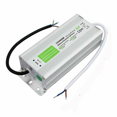 60W DC 12V IP67 Waterproof LED Transformer Driver Power Supply for LED Strip UK