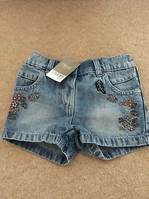 Next Girls Denim Shorts - Age 3-4 Years *BNWT*