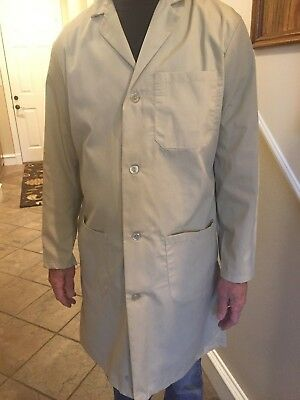 Men's 1st Quality Tan Lab Coats Sizes: XXS, XS, S, & 2XL Price 12.00 ea