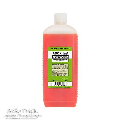 Adox Adostop Eco Indicator Stop Bath ~ 1lt Concentrate ~ New Product!