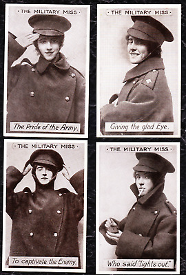 "6 Wwi Patriotic Postcards ""the Military Miss"" & ""our B'hoys"" - 1 Posted 1915 -"