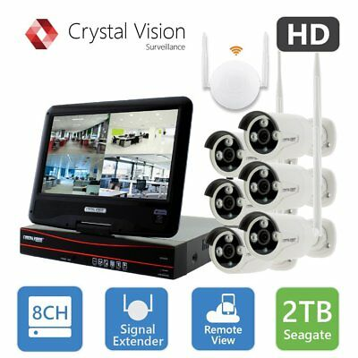 Crystal Vision CVT9608E-3010W All-in-One TRUE HD Wireless Surveillance System