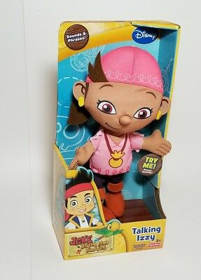 NEW Disney Jake and the Neverland Pirates Talking Izzy Doll, Sounds Phrases
