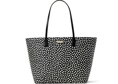 New Kate Spade Margareta Shore Street Printed Musical Dot Leather Bag Handbag