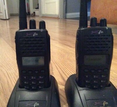 2 x Simoco Xfin Radios , UHF , Prog to Talk one to another , With Charger