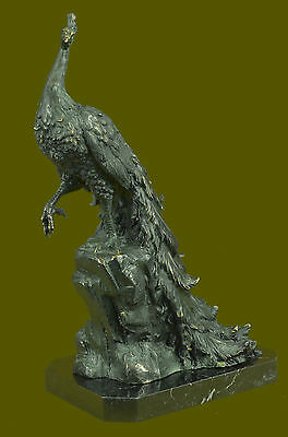 Gorgeous Peacock Bronze Sculpture Figurine Hot Cast Original Milo Gilt Masterpie