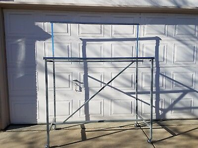 Industrial apparel racks 6ft max height stainless finish fixtures