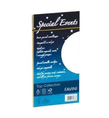 Buste Perlate Bianche Special Events Top Collection Favini 11X22 Gr.120 Cf.10 Pz