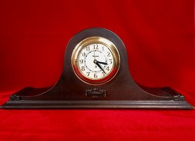 E. INGRAHAM Co. Tambour Mantel Clock for Parts or Repair with UNITED Clock Face
