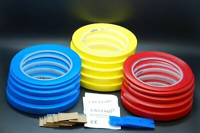 3M 471 Strong Blue, Red, Yellow Vinyl Tape bundle set  for Decoration, Masking