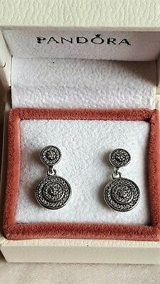 Pandora Radiant Elegance Drop Earrings. S925 ALE with BOX.