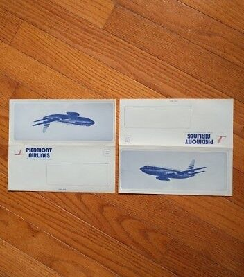 Piedmont Airlines Vintage Stationary - Rare - Never used, blank inside-set of 5
