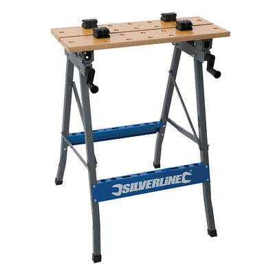 Silverline Tools - Heavy Duty Flip-Top Workbench - 150kg