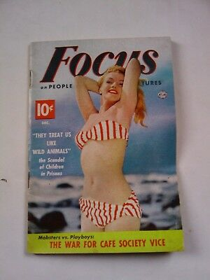 Marilyn Monroe  Focus On People Magazine 1952-53 Swimsuit Pin-Up Cover