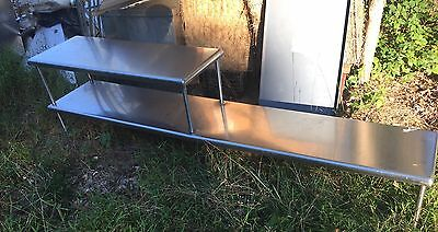 Stainless Steel Double Overhead Shelf For Prep Station / Chef Line