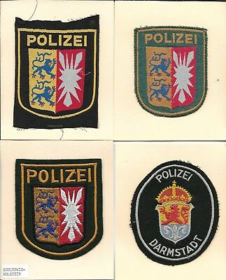 LOT OF 4 OLDER WEST GERMANY POLICE PATCHES HAMBURG HESSEN 7 of 8