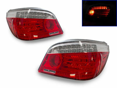 DEPO Facelift LED Light Bar Red/Clear Tail Lights For 2004-2010 BMW E60 5 Series