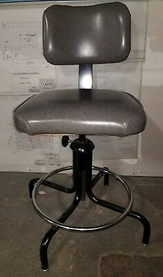 Reclaimed Vintage Industrial Adjustable Desk Bar Drafting Stool United Chair