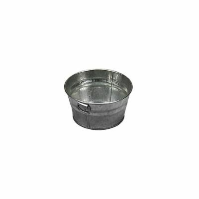 "American Metalcraft MTUB63 Round Natural Finish Galvanized 6"" Tub"