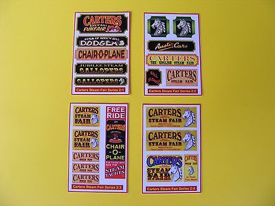 Carters Steam Fair Stickers Series 2 - Pack Of Four