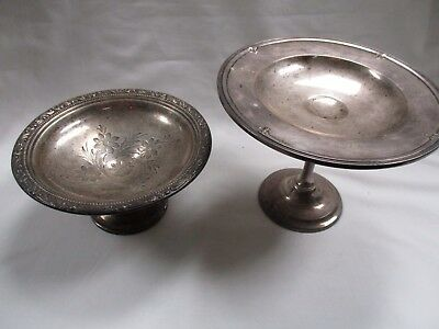 (2) Sterling Silver Condiment/Candy Dishes- Gorham & Frank Whiting- 9ozs- NR