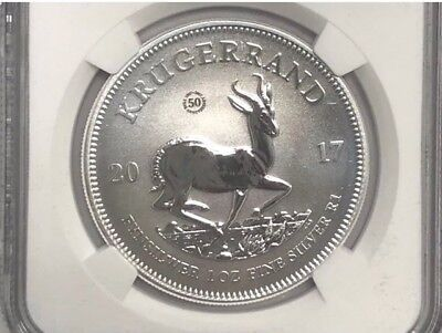2017 South African Silver Kruggerand NGC SP70 First Release 50th Anni 1oz Silver