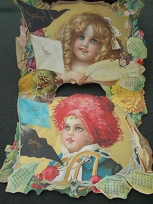 Extraordinary advertising calendar...beautiful lithography...dated 1905