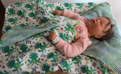 Handmade Reversible Double Flannel Baby Boy/Girl Machine Quilted Blanket/Quilt