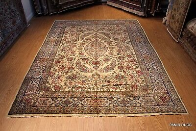 9' x 12' Antique Persian Lavar Kerman LAST QUATER of 19TH CENTURY Authentic rug