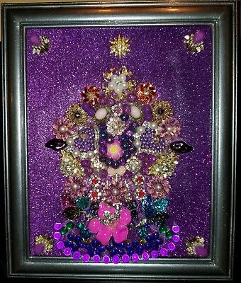 Recycled Vintage Framed Jewelry Art