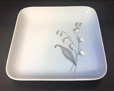 Bing & Grondahl Copenhagen Lily of the Valley Porcelain Square Hors d'oeuvres