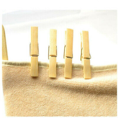 Quality Bamboo Clothes Pegs Clips Pine Washing Line Dry Wood Peg Garden Uk Stock