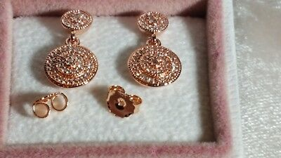 5bda8132a ... real pandora rose gold drop earrings 0e89d 32eed ...