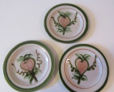 "John B Taylor Louisville Pottery- Harvest Pattern- 6"" Bread Plates- Set of 3"