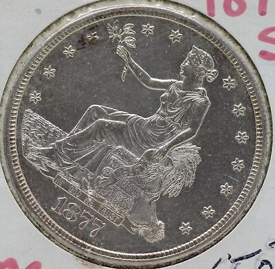 1877-S United States Trade Dollar - Uncirculated - San Francisco Mint - CC661