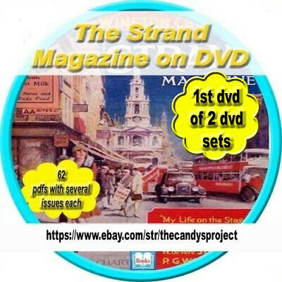 5 DVDs Strand Magazine Vintage 61 Six Months in Each Back issue English monthly