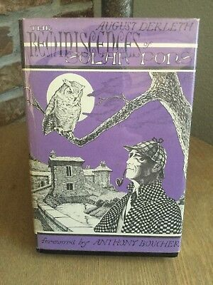 VINTAGE 1961 Limited Edition August Derleth The Reminiscences of Solar Pons w/DJ