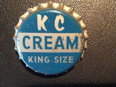 K C - Kit Carson - Cream  Soda  Bottle Cap  - Unused   -  Cork Lined