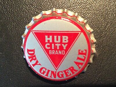 Hub City Dry Ginger Ale    Soda  Bottle Cap  - Unused   -  Cork Lined