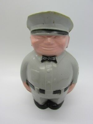 Vintage 1950s FAT MAN Gas Station Attendant Add Your Station Decals Coin Bank