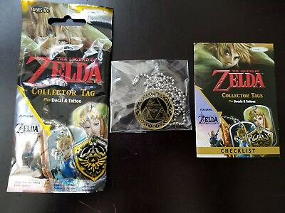 Legend of Zelda Collector Tags Gold G1 Triforce Shield Enterplay