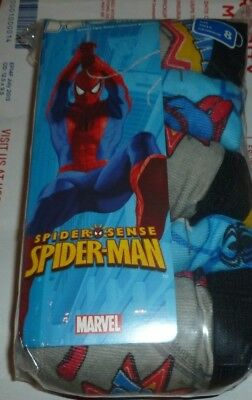 Spiderman Boy's boxer Briefs Underwear 5 pair Size 4 or size 8 Fruit of the Loom