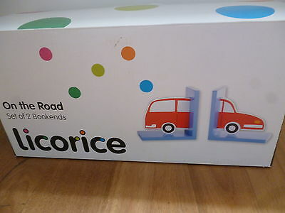 "New Licorice ""On The Road"" Set of bookends - BNIB"
