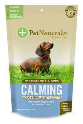 Calming For Dogs 30 Chews 1.59 oz (45 g), Pet Naturals of Vermont