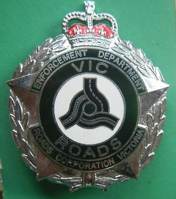 Obsolete 1980's era VicRoads Enforcement Department hat badge